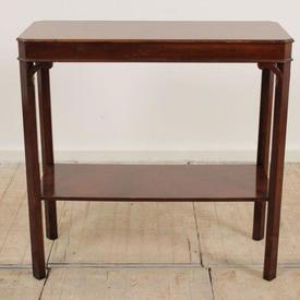 "2'10"" Mahogany 2 Tier Georgian Side Table (L168Cm  x  H94Cm  x  W65Cm)"