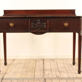 4' Regency Style Mahogany Ribbed Drawer Side Table