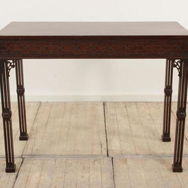 """3'6"""" Mahogany Chinese Chippendale Silver Table (H82Cm  x  W107Cm  x  D52Cm)"""