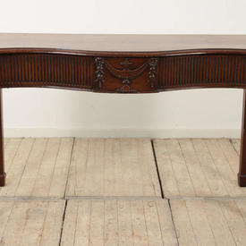 5' Mahogany Regency Serpentine Front Side Table