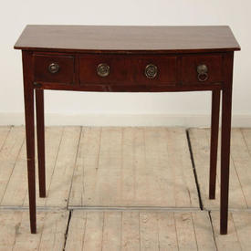 "2'6"" Mahogany Bow Front 3 Drawer Side Table"