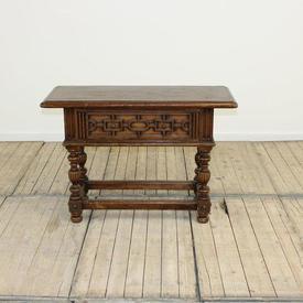 """3""""3 Oak Single Drawer Side Table"""