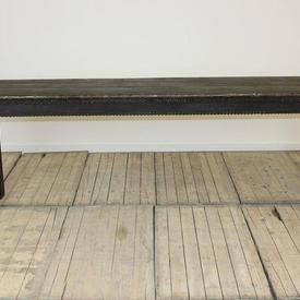 """7""""6  x  18"""" Dark Hardwood Side Table"""