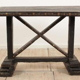 """3'6""""  x  1'11"""" Dark Hardwood Side Table  x  Underframe"""