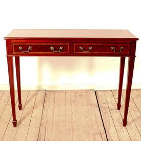 "3'4"" Mahogany Slender 2-Drawer Hall Table"