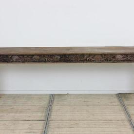 """8'9"""" x  18"""" Oak Hardwood Side Table"""
