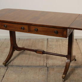 Rosewood & Satinwood Regency 2 Drawer Sofa Table