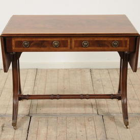 Mahogany & Fruitwood 2 Drawer Sofa Table