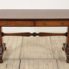 "3'8"" x  1'9"" Mahogany 2 Drawer Sofa Table"