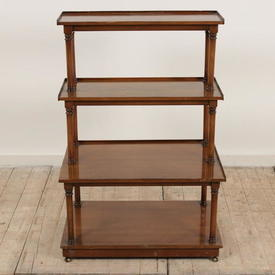 """2'5"""" Fruitwood French Provincial 4-Tier Whatnot"""