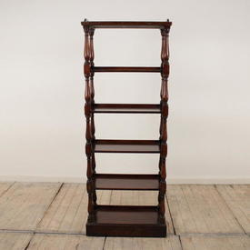 "5'3"" Polished Oak 6-Tier Open Whatnot"