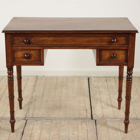 "3'1"" x  1'8"" Mahogany Knee Hole 3 Drawer Writing Table"