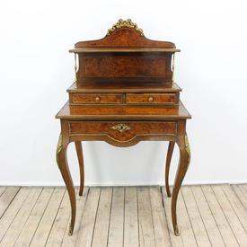 "2'4"" Kingwood & Brass Ladies Bonheur Du Jour Writing Desk"