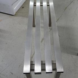 Stainless Steel 3' 4 Slat Mkb  Bench Seat