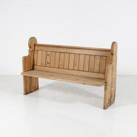 150Cm Solid Oak Ribbed Back Church Pew Style Bench