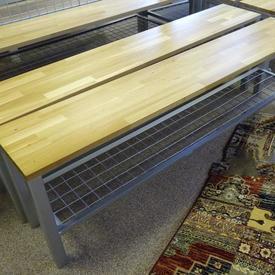 5' Beech & Ali Single Changing Room Bench