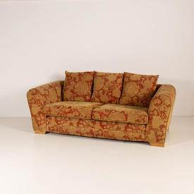 Celtic Dull Gold & Rust Floral Self Pattern Sofa