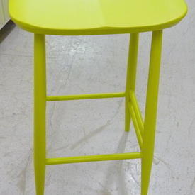 Ercol Lime Green Curved Seat Barstool
