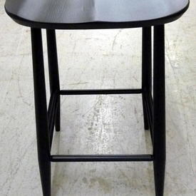 Ercol Black Curved Seat Barstool