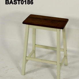White Leg Oak Top Moscow Breakfast Stool