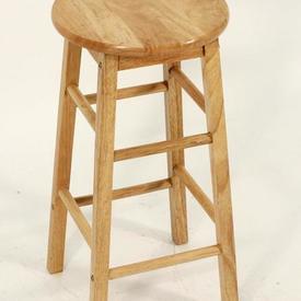 Beech Circular Seat Ladder Leg  Kitchen Barstool