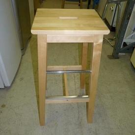 Tall Pine Sq Kitchen Stool with Cutout Hand Grip