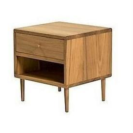 48 X45Cm Oil Finished Hardwood Top Draw Open Shelf Myb Bedside Cabinet