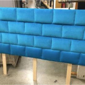 6' Bright Blue Padded Headboard
