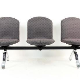 B Ice Three Seat Fabric Beam Seat
