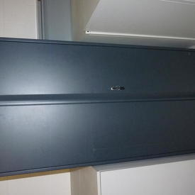"Graphite Grey Metal Recessed Handle 5'6""X 3' 2 Door Cupboard"