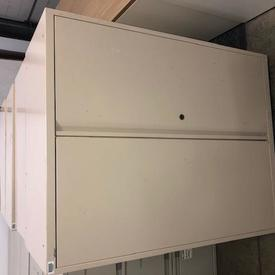 116Cm X 90Cm Beige Metal 2 Door Cupboard