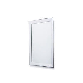 Rectangular Polished Chrome Framed Wall Mirror