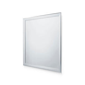 Square Polished Chrome Framed Wall Mirror