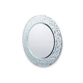 Circular ''Venus'' Silver Relief Wall Mirror