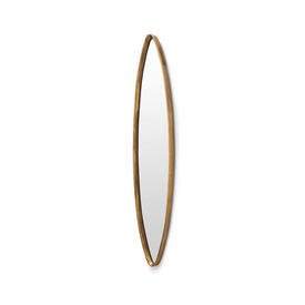 Brushed Gold Elliptical Wall Mirror