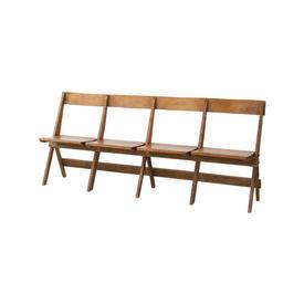 1920S Oak Folding 4 Seater Bench