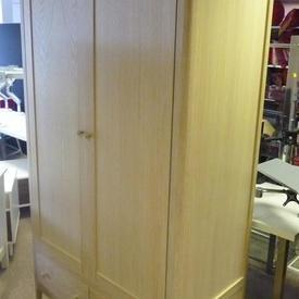 195Cm X 116Cm Soaped Oak Hudson 2 Door 2 Drawer Wardrobe