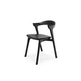 Black Oak ''Bok'' Chair with Leather Seat Pad