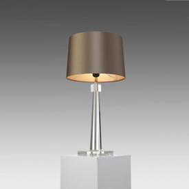 Medium Crystal Glass Table Lamp (Shade Not incuded)