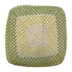 "Cushion 16"" x 16"" Lime Geo Crochet"