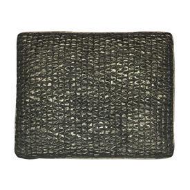 """Cushion 20"""" x 22"""" Black / Gold Geo Quilted Lurex"""