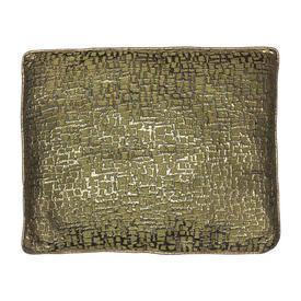 "Cushion 20"" x 22"" Lime / Gold Abstract Patt Lurex"