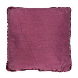 "Cushion 16"" x 16"" Magenta Silky Dupion / Lurex Piped"