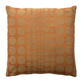 "Cushion 18"" x 18"" Orange Circles Patt Miska"