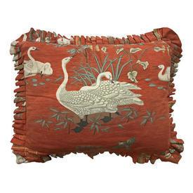 "Cushion 15"" x 18"" Greef Aviary Chinese Goose Chintz / Frilled"