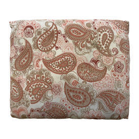 "Cushion 14"" x 17"" Terracotta Paisley Print Sateen"