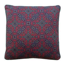 """Cushion 15"""" x 15"""" Red Geo Mosaic Print"""