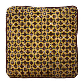 "Cushion 16"" x 16"" Yellow Provencal Print Cotton"