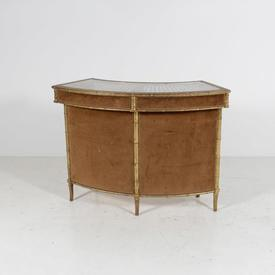 70'S Bamboo Effect Curved Cocktail Bar with Rattan Top