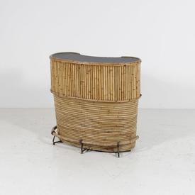 Black Top Bamboo Bar Unit